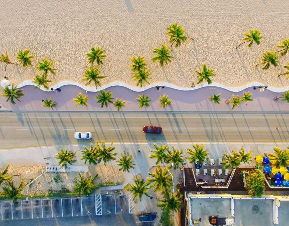 aerial of ft. lauderdale beach