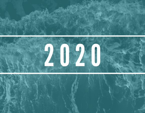 """2020"" on crashing waves"